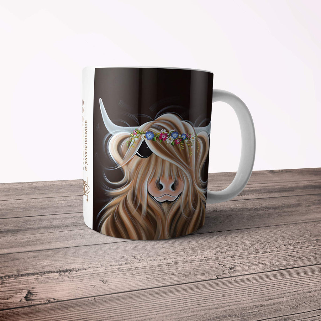 Jennifer Hogwood, The McMoos, Flora - 11oz Ceramic Mug