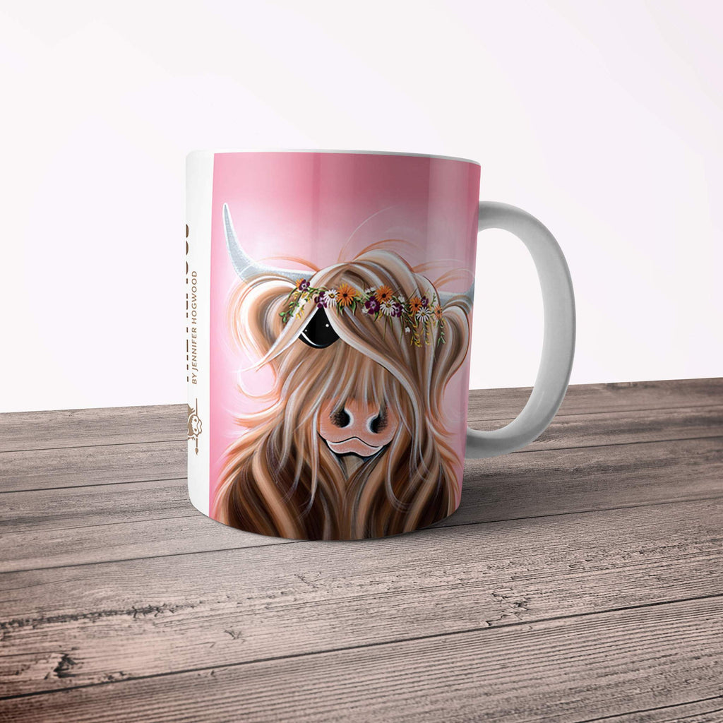 Jennifer Hogwood, The McMoos, Flower Girl - 11oz Ceramic Mug