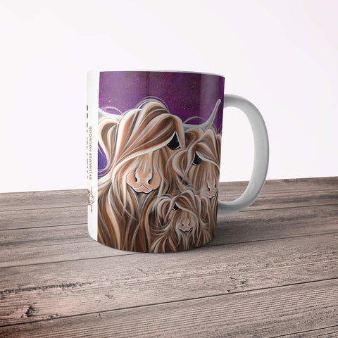 Jennifer Hogwood, The McMoos, Stars In The Highland - 11oz Ceramic Mug