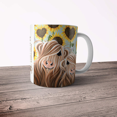 Jennifer Hogwood, The McMoos, Sunshine Of My Life - 11oz Ceramic Mug