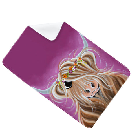 Jennifer Hogwood, The McMoos, Beatrice - Fleece Blanket