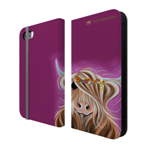 Jennifer Hogwood, The McMoos, Beatrice - Folio Wallet Phone Case