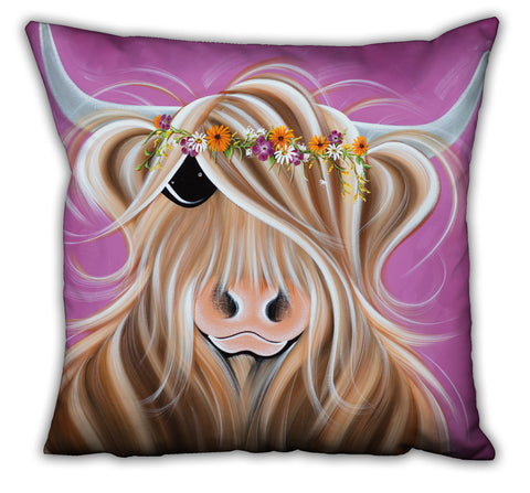 Jennifer Hogwood, The McMoos, Beatrice - Suede Cushions