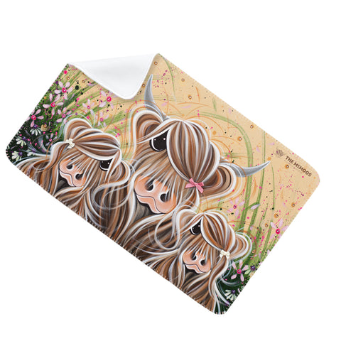 Jennifer Hogwood, The McMoos, Bow Peeps - Fleece Blanket