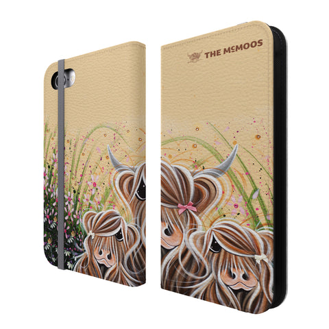 Jennifer Hogwood, The McMoos, Bow Peeps - Folio Wallet Phone Case