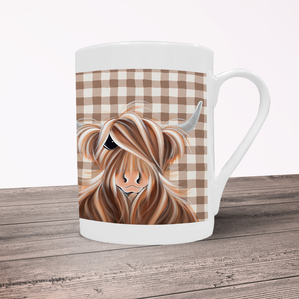 Jennifer Hogwood, The McMoos, Check Moo Out - Porcelain Mug