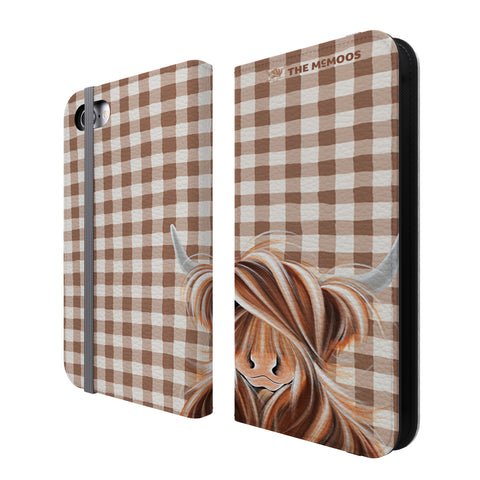 Jennifer Hogwood, The McMoos, Check Moo Out - Folio Wallet Phone Case