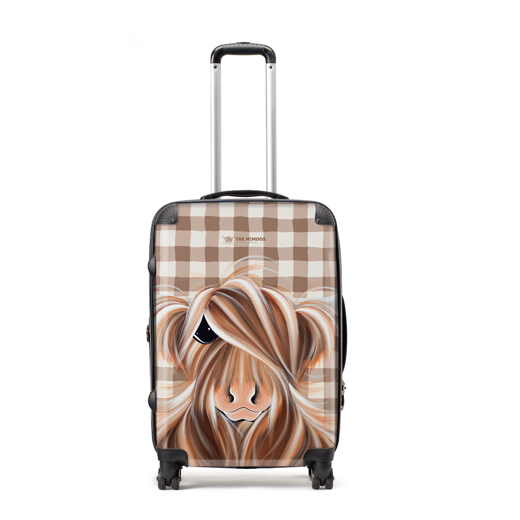 Jennifer Hogwood, The McMoos, Check Moo Out - Large Suitcase