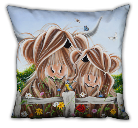 Jennifer Hogwood, The McMoos, Country Love - Suede Cushions