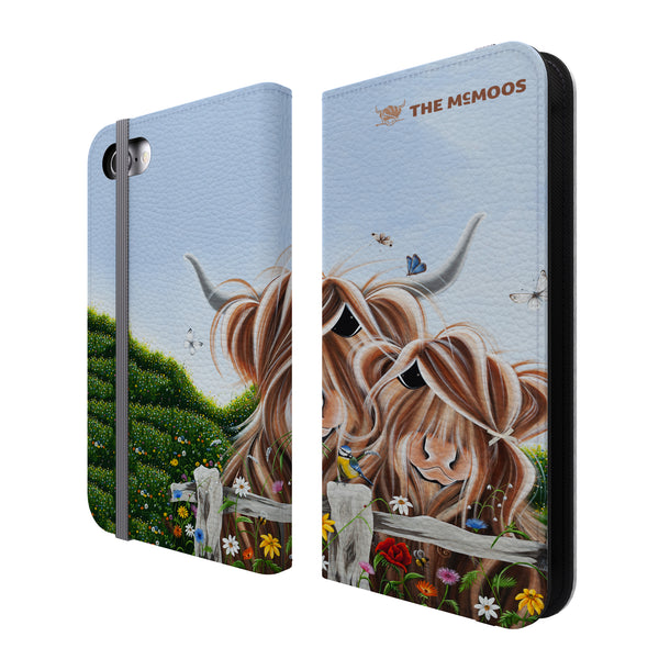 Jennifer Hogwood, The McMoos, Country Love - Folio Wallet Phone Case