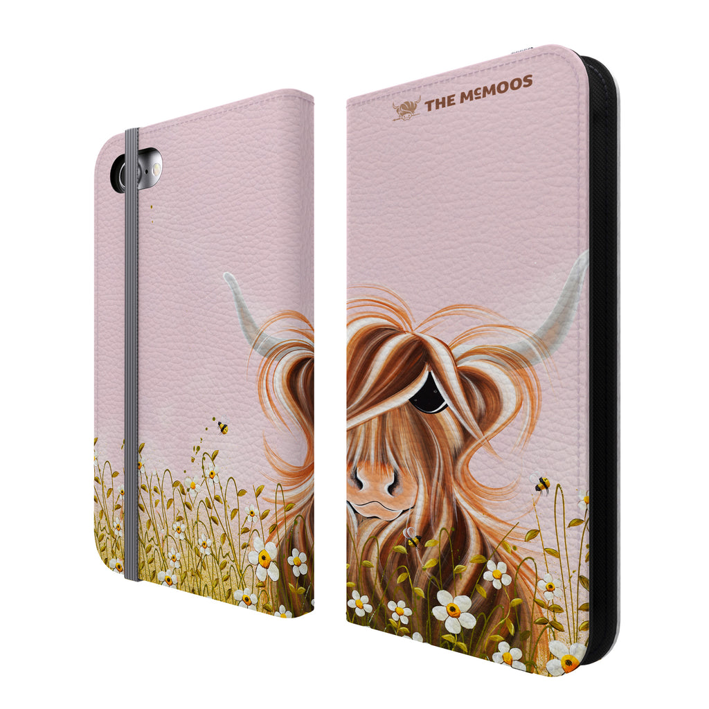 Jennifer Hogwood, The McMoos, Daisy - Folio Wallet Phone Case