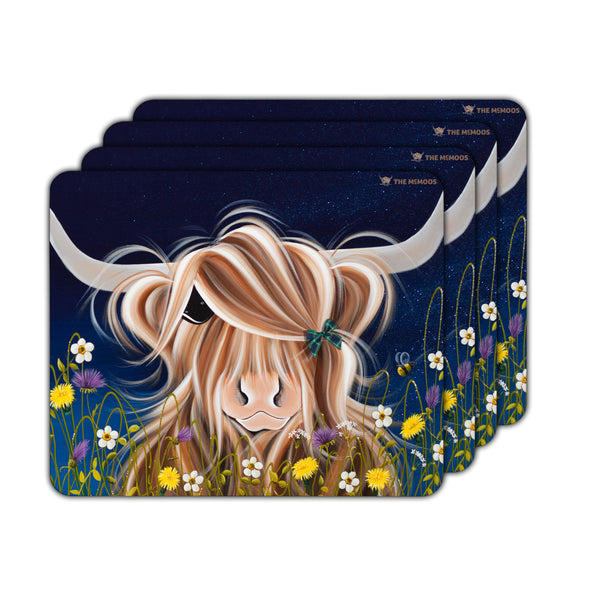 Jennifer Hogwood, The McMoos, Evening Highland - Placemats