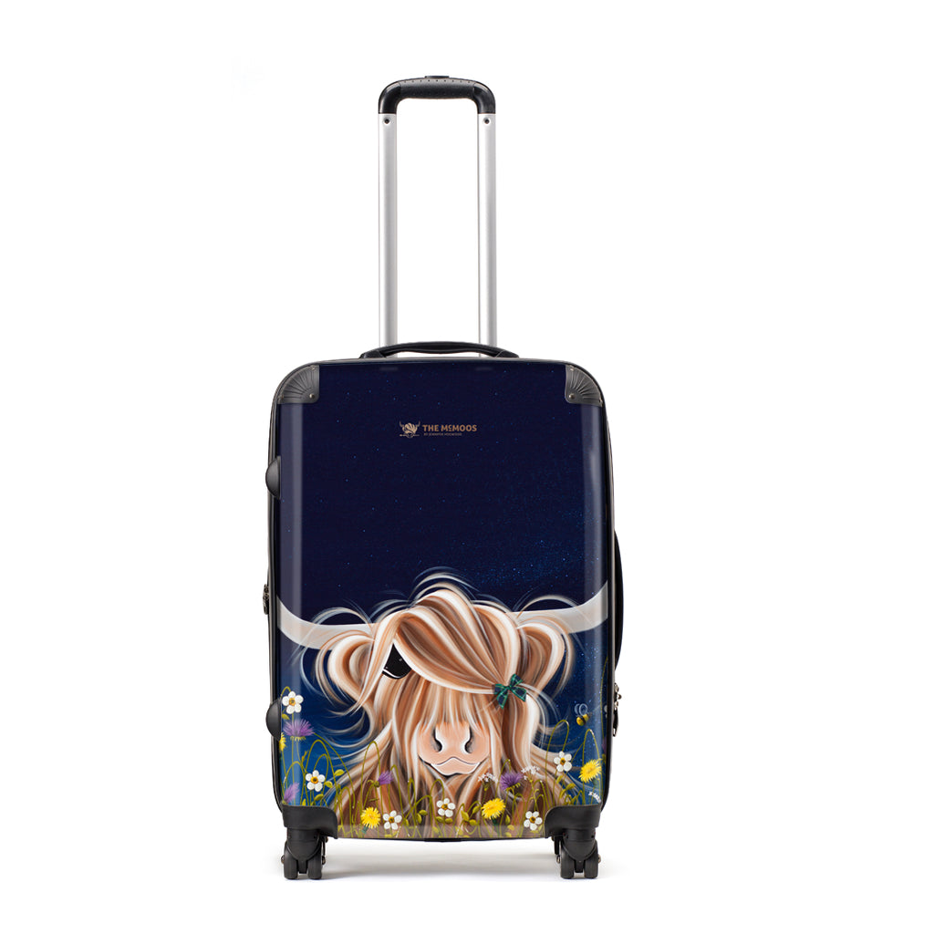 Jennifer Hogwood, The McMoos, Evening Highland - Large Suitcase