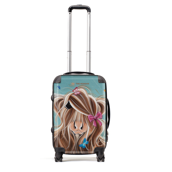 Jennifer Hogwood, The McMoos, Fluttering Around Moo - Small Suitcase (Cabin)