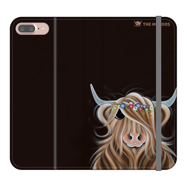 Jennifer Hogwood, The McMoos, Flora - Folio Wallet Phone Case