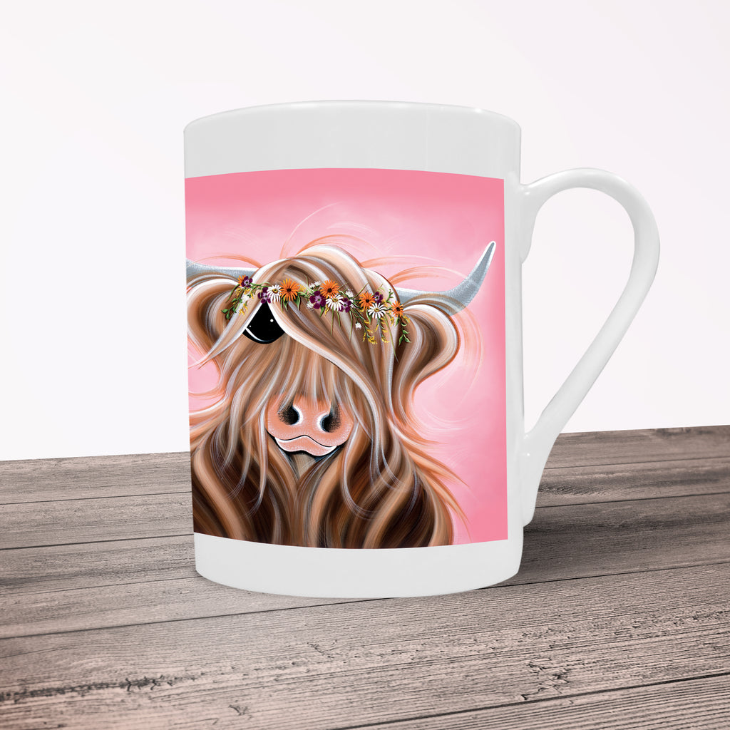 Jennifer Hogwood, The McMoos, Flower Girl - Porcelain Mug