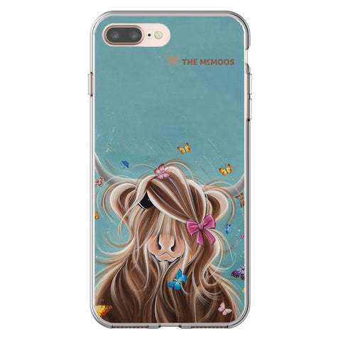 Jennifer Hogwood, The McMoos, Fluttering Around Moo - Flexi Phone Case