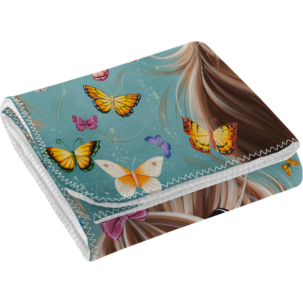 Jennifer Hogwood, The McMoos, Fluttering Around Moo - Fleece Blanket