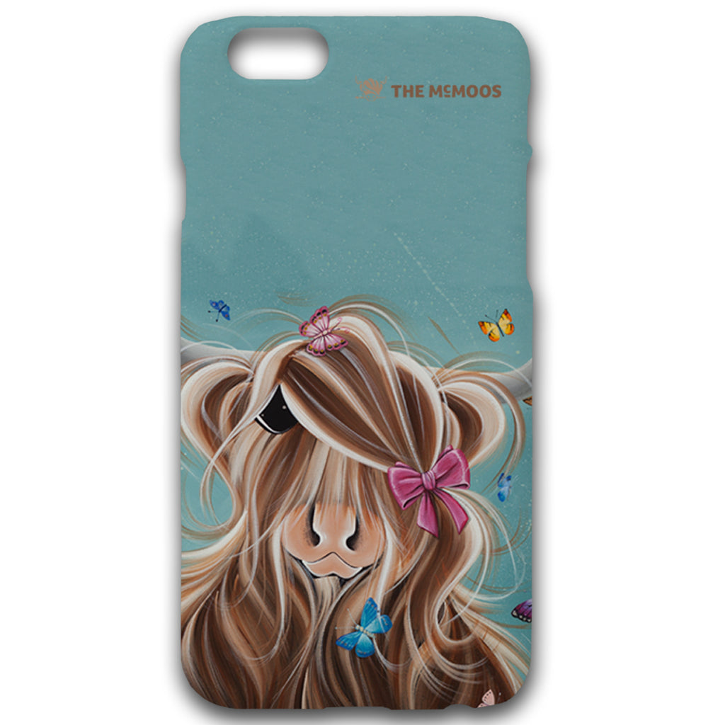 Jennifer Hogwood, The McMoos, Fluttering Around Moo - Hardback Phone Cases