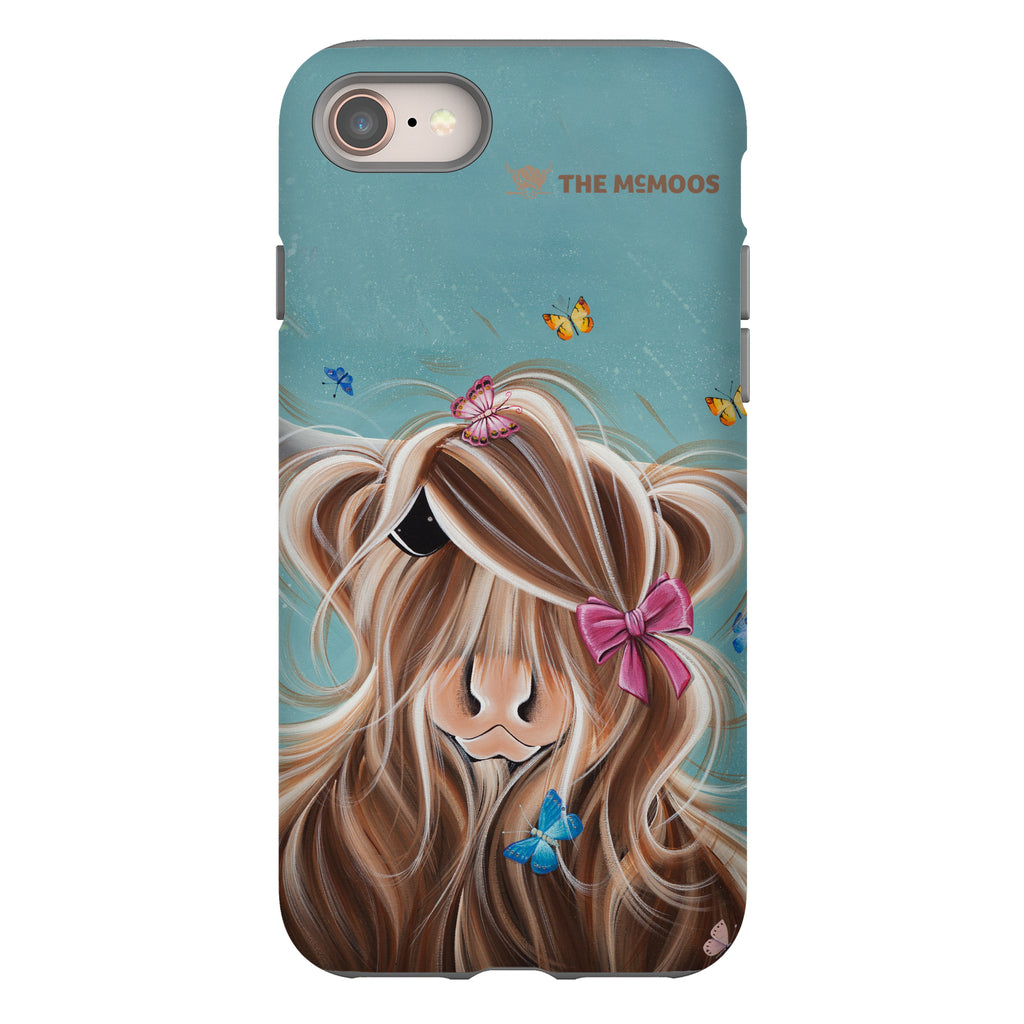 Jennifer Hogwood, The McMoos, Fluttering Around Moo - Tough Phone Case
