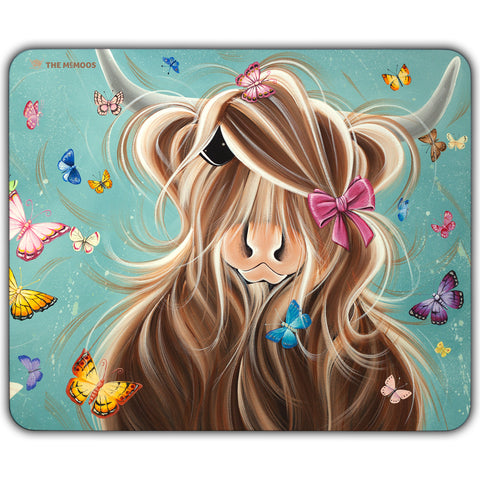 Jennifer Hogwood, The McMoos, Fluttering Around Moo - Placemats