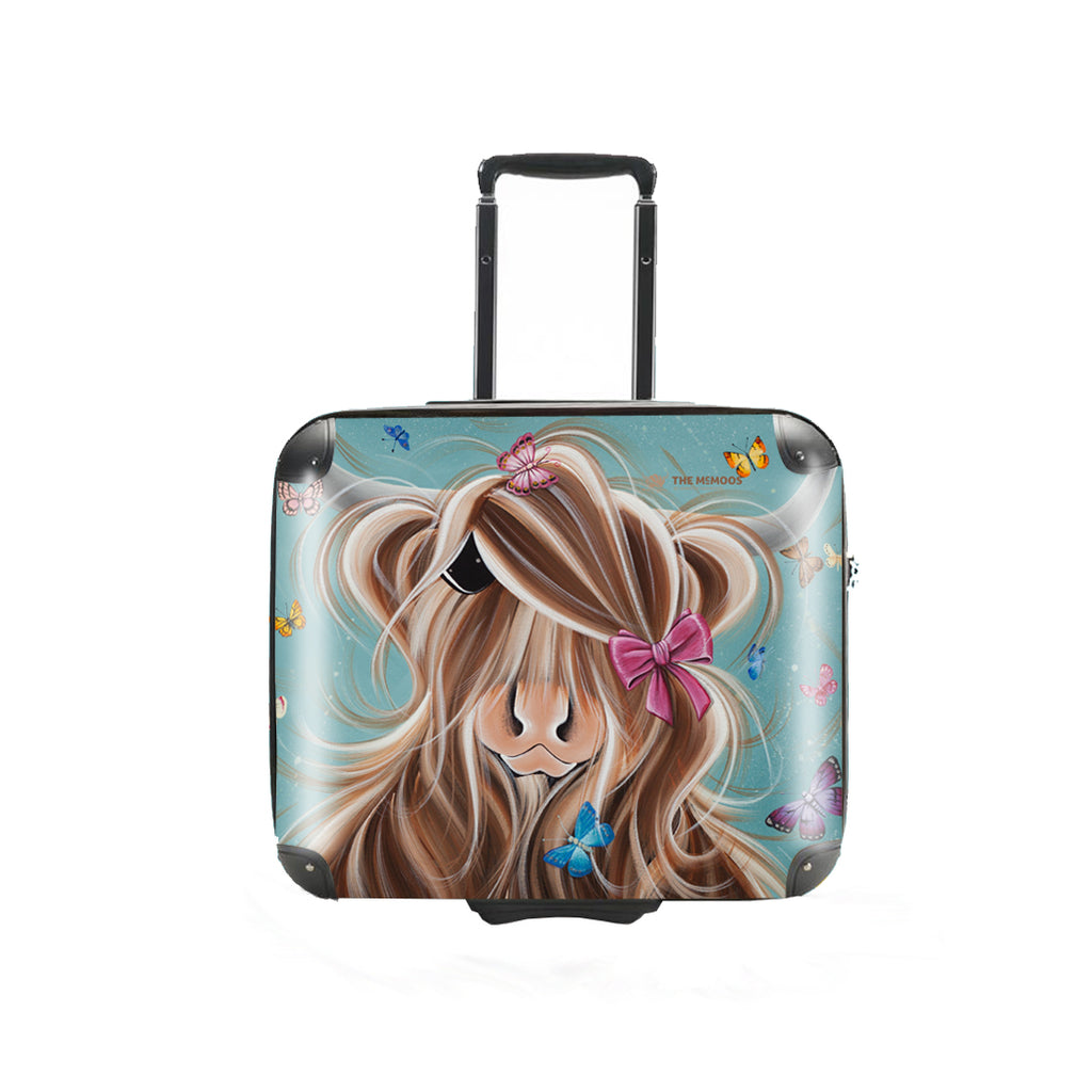 466160f24 Jennifer Hogwood, The McMoos, Fluttering Around Moo - Business Suitcase  (Overnight)