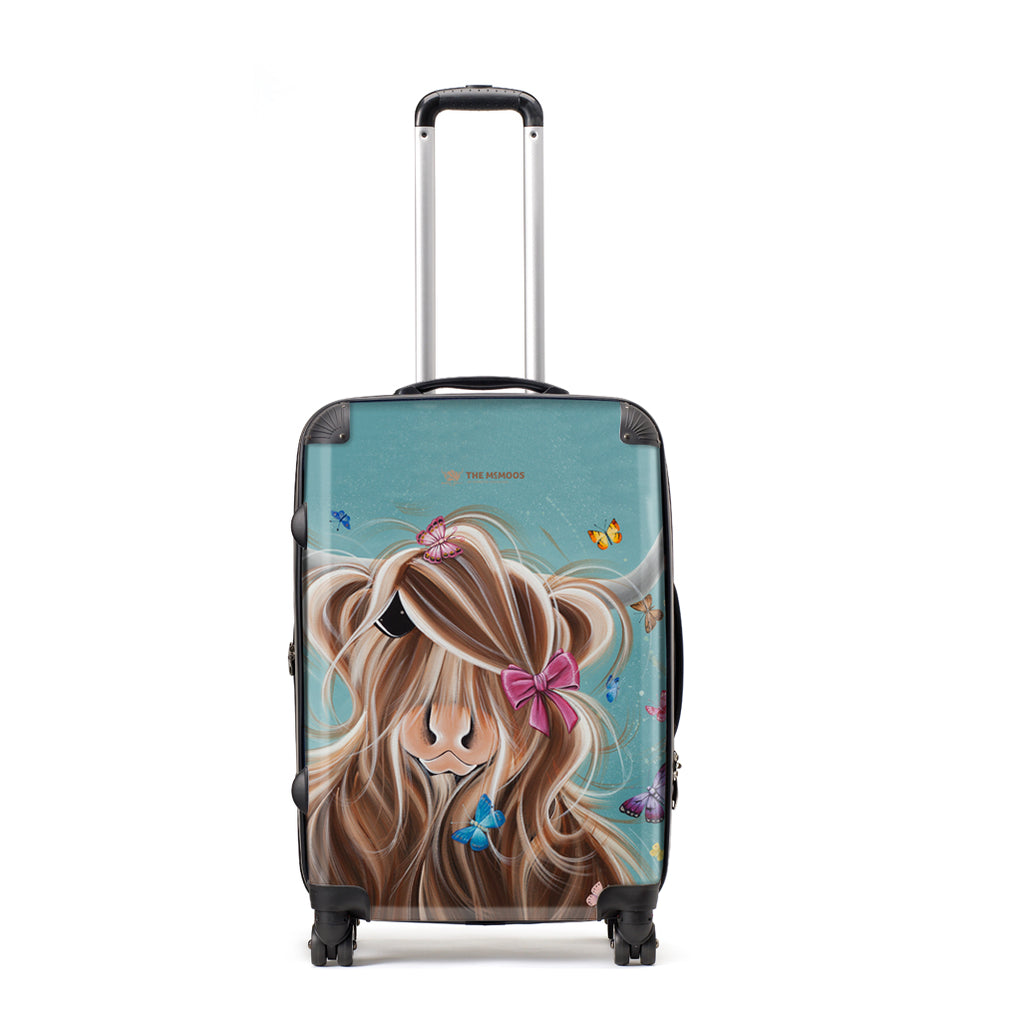 Jennifer Hogwood, The McMoos, Fluttering Around Moo - Large Suitcase