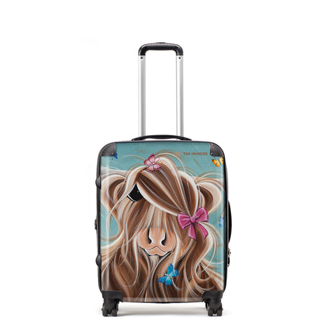 Jennifer Hogwood, The McMoos, Fluttering Around Moo - Medium Suitcase