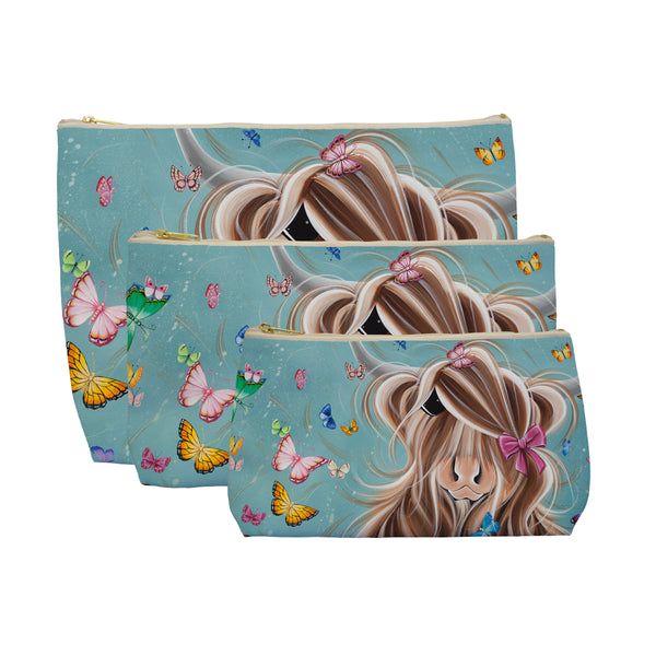 Jennifer Hogwood, The McMoos, Fluttering Around Moo - Makeup / Wash Bags