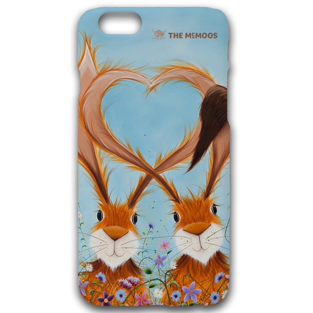 Jennifer Hogwood, The McMoos, Hares In Love - Hardback Phone Cases