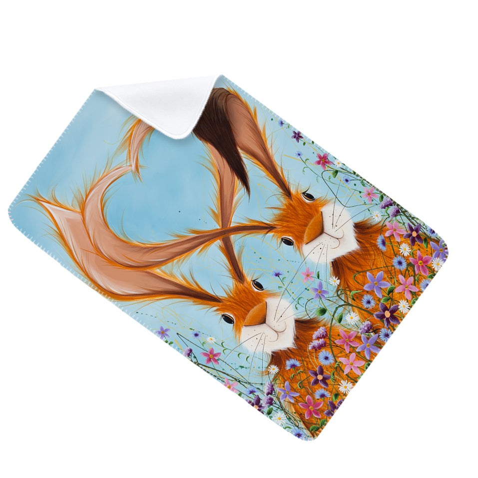 Jennifer Hogwood, The McMoos, Hares In Love - Fleece Blanket