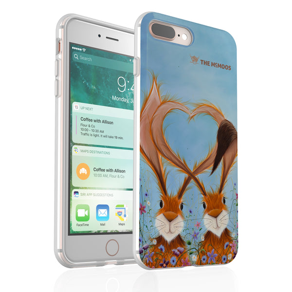 Jennifer Hogwood, The McMoos, Hares In Love - Flexi Phone Case
