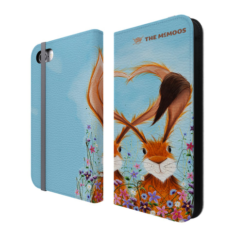 Jennifer Hogwood, The McMoos, Hares In Love - Folio Wallet Phone Case