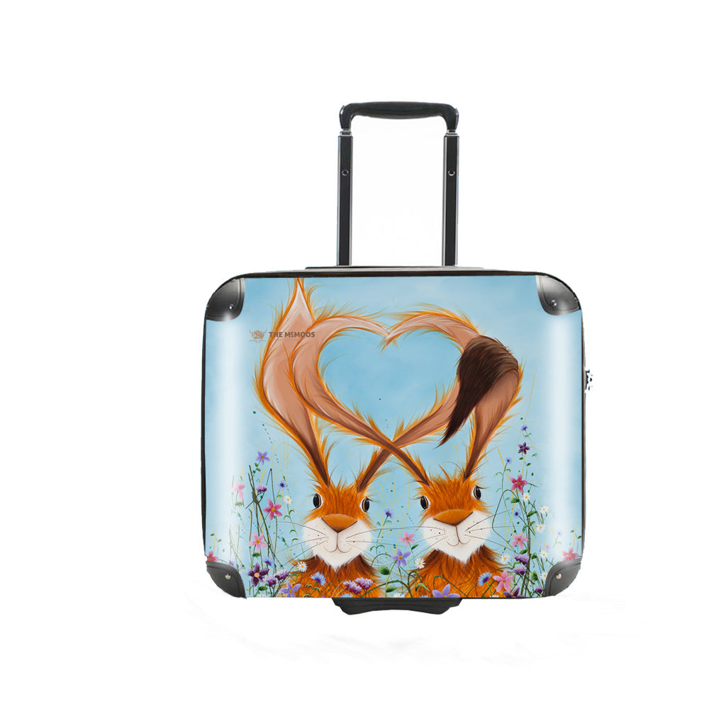 Jennifer Hogwood, The McMoos, Hares In Love - Business Suitcase (Overnight)