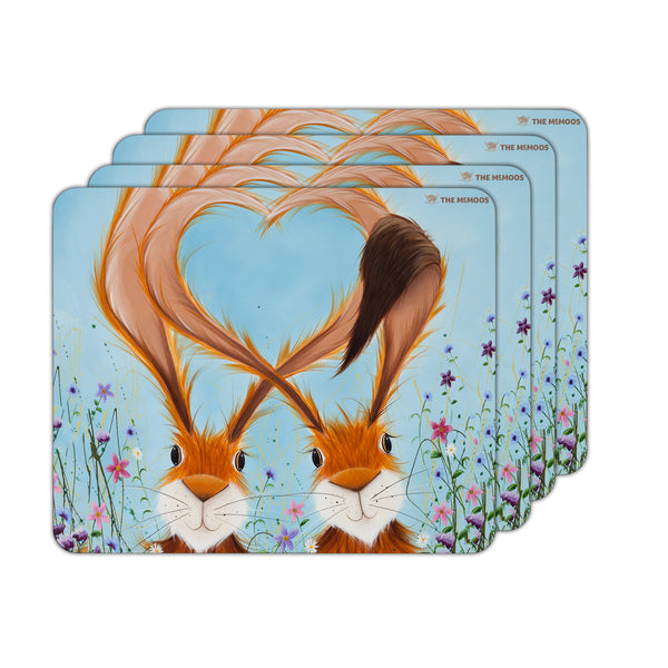 Jennifer Hogwood, The McMoos, Hares In Love - Placemats