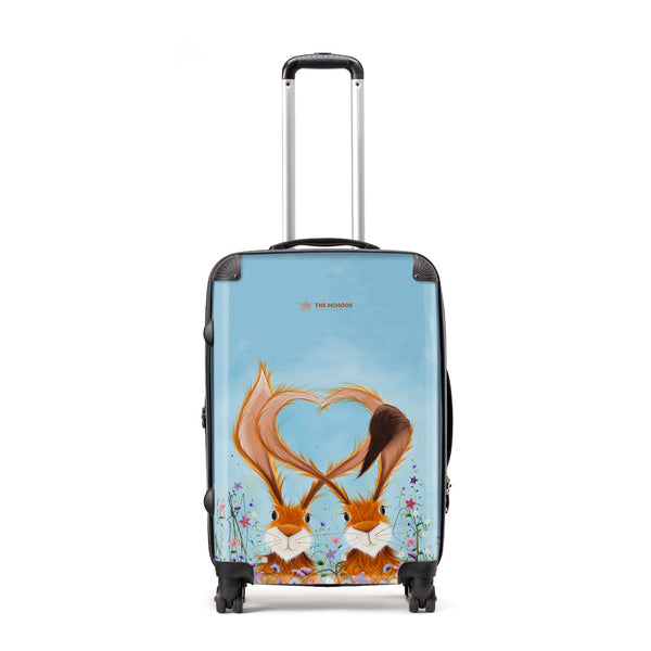 Jennifer Hogwood, The McMoos, Hares In Love - Large Suitcase
