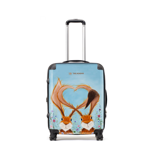 Jennifer Hogwood, The McMoos, Hares In Love - Medium Suitcase