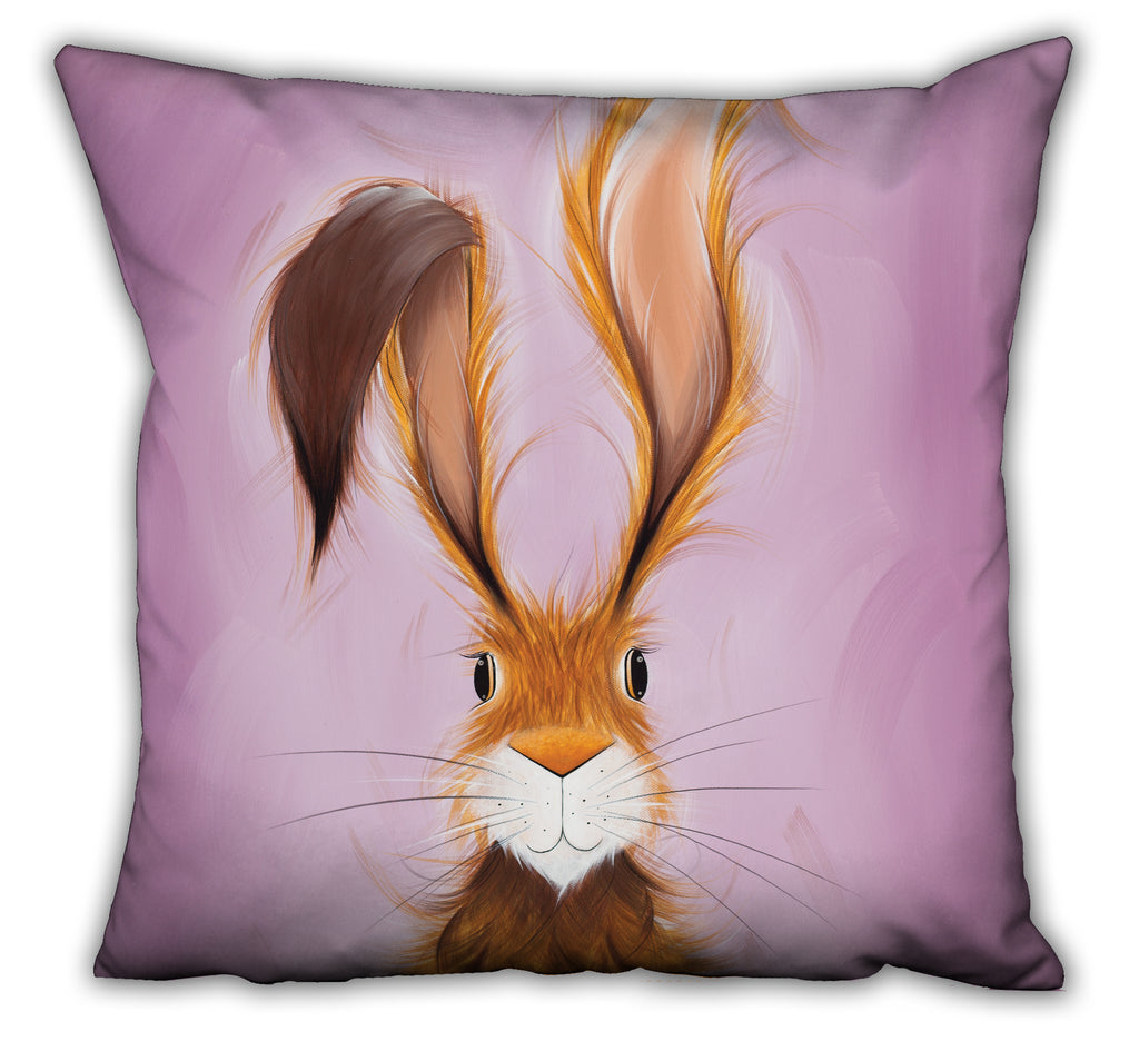 Jennifer Hogwood, The McMoos, Hatty Hare - Suede Cushions