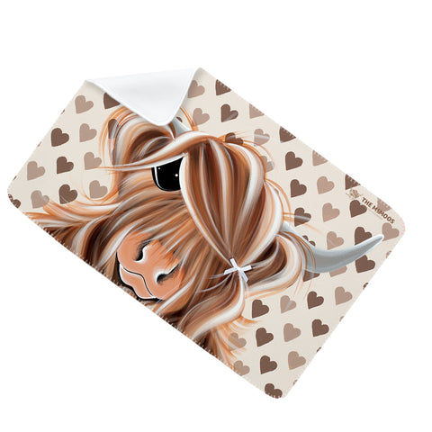 Jennifer Hogwood, The McMoos, I Love Moo - Fleece Blanket