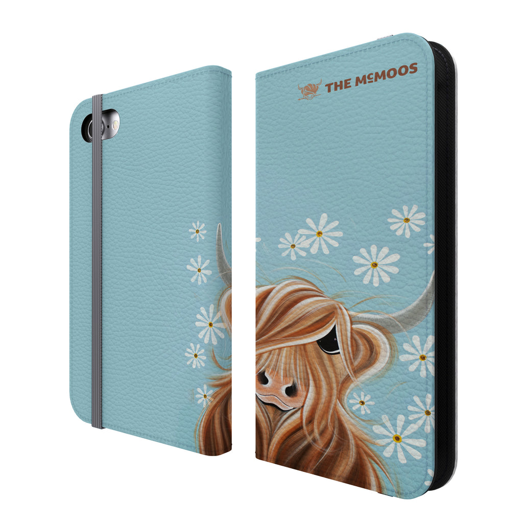Jennifer Hogwood, The McMoos, Little Miss Daisy - Folio Wallet Phone Case
