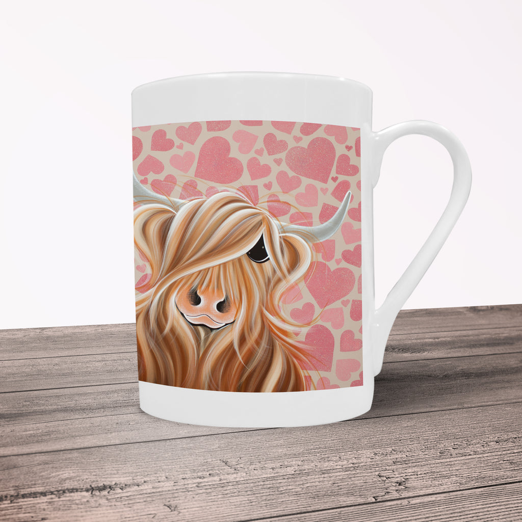 Jennifer Hogwood, The McMoos, Little Miss Love - Porcelain Mug