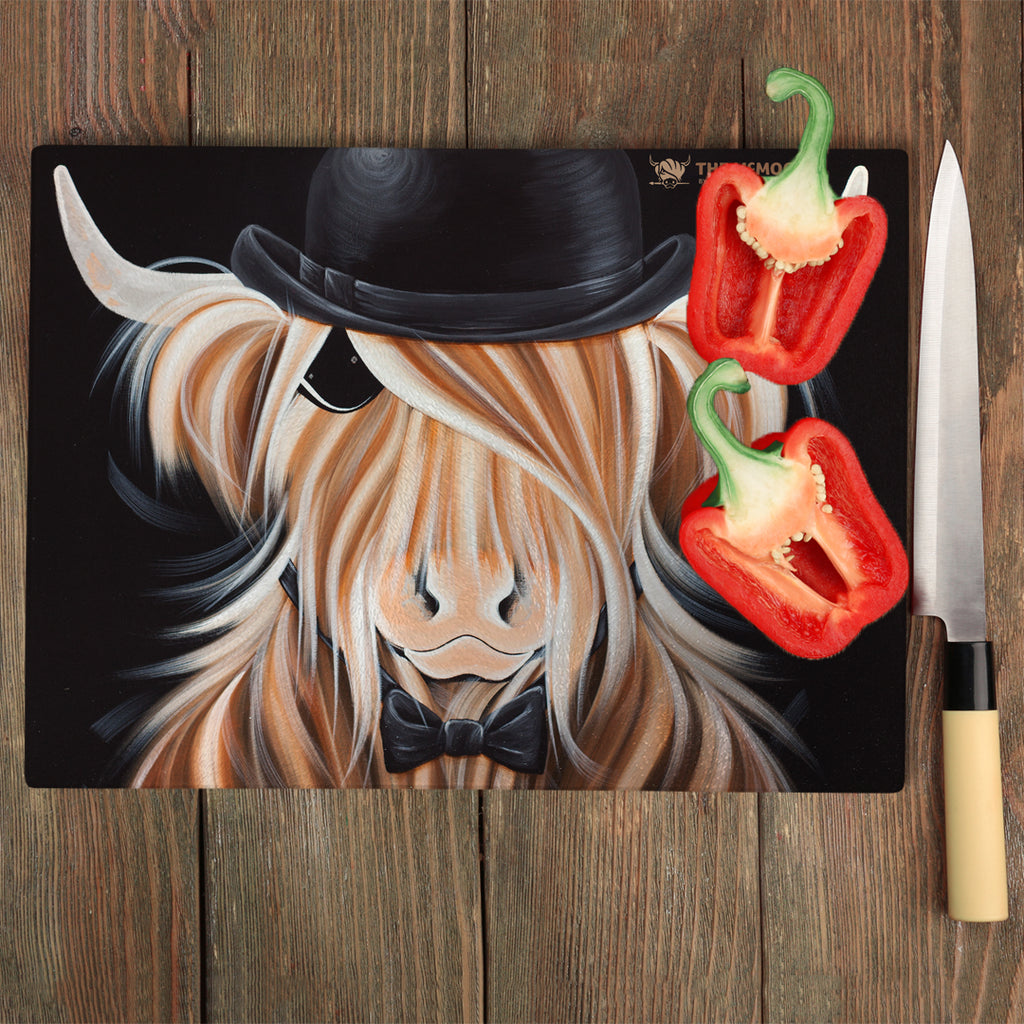 Jennifer Hogwood, The McMoos, McBeau - Glass Chopping Board