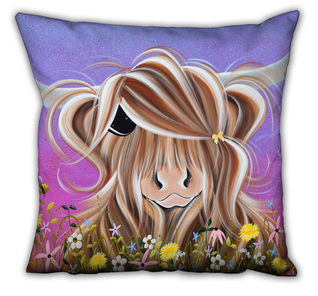 Jennifer Hogwood, The McMoos, Moo On A Summers Evening - Suede Cushions