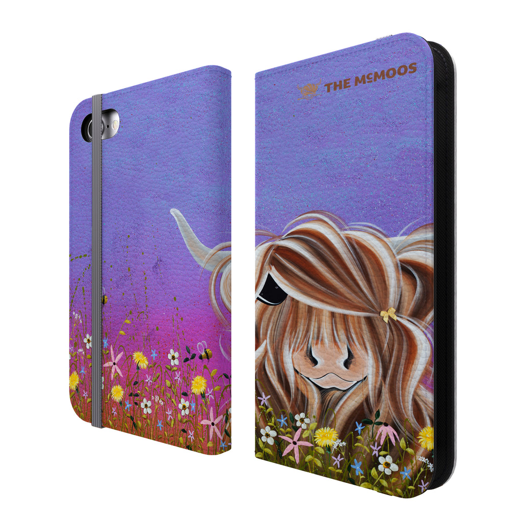 Jennifer Hogwood, The McMoos, Moo On A Summers Evening - Folio Wallet Phone Case