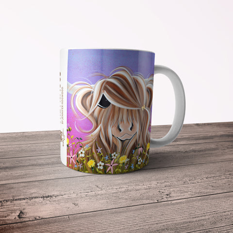 Jennifer Hogwood, The McMoos, Moo On A Summers Evening - 11oz Ceramic Mug
