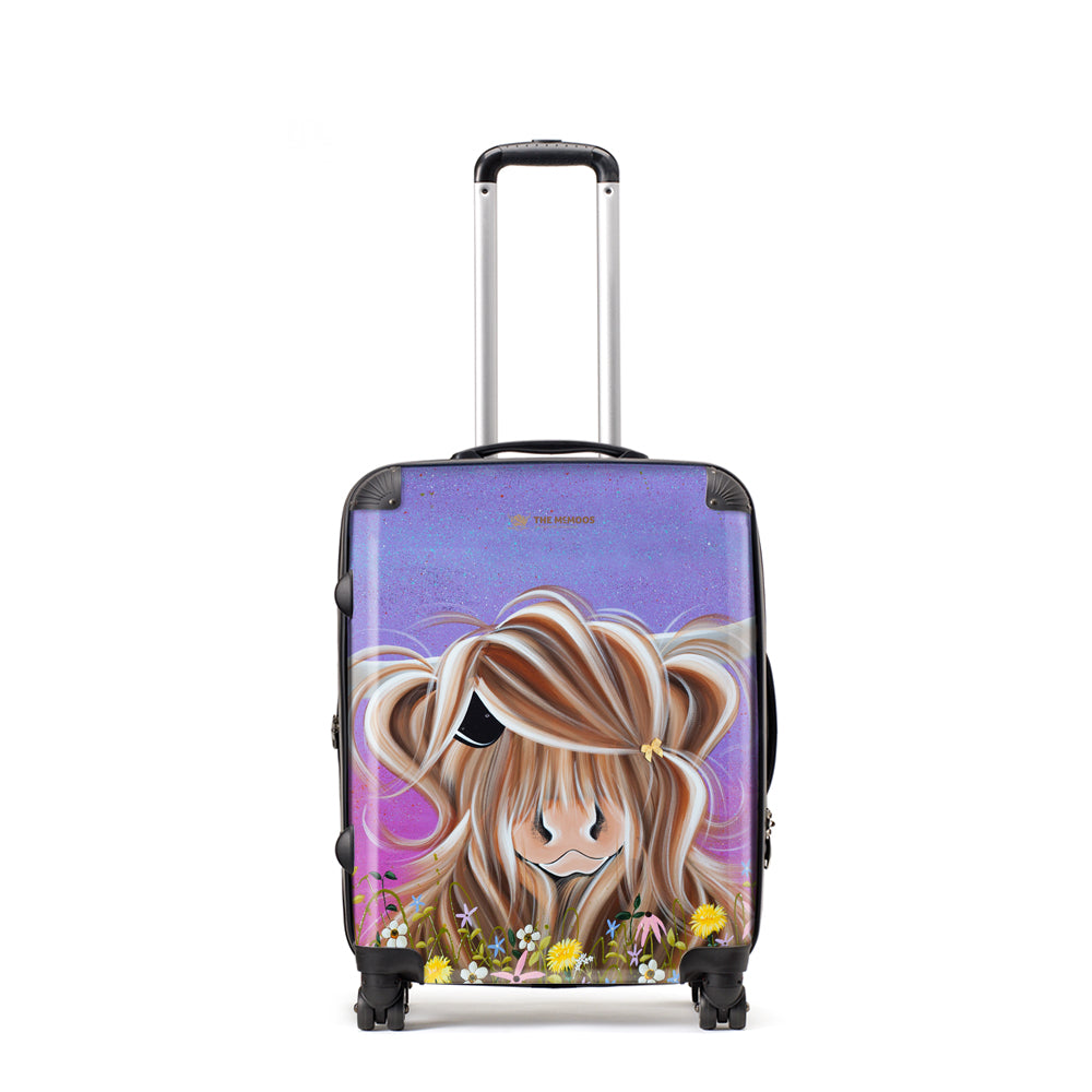 Jennifer Hogwood, The McMoos, Moo On A Summers Evening - Large Suitcase