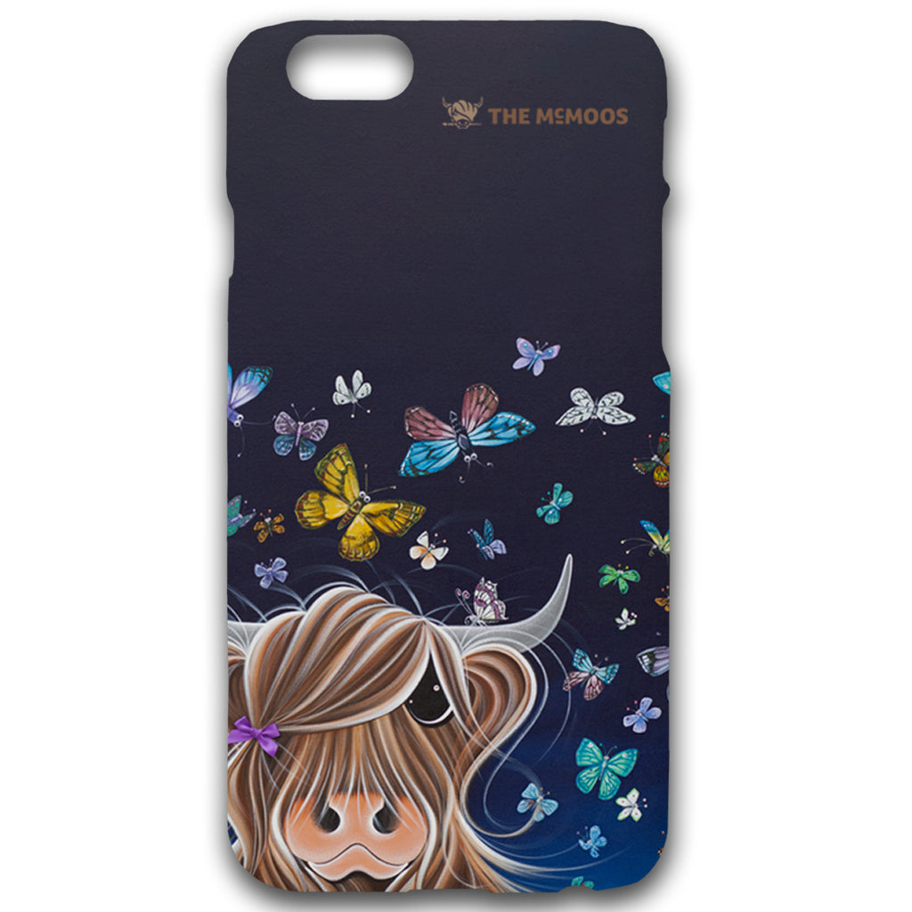 Jennifer Hogwood, The McMoos, Night Flight - Hardback Phone Cases