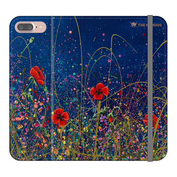Jennifer Hogwood, The McMoos, Poppy Evening - Folio Wallet Phone Case