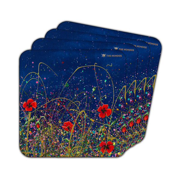 Jennifer Hogwood, The McMoos, Poppy Evening - Coasters