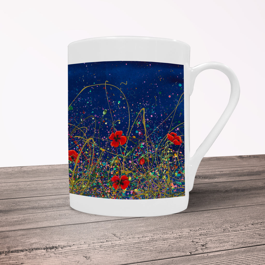Jennifer Hogwood, The McMoos, Poppy Evening - Porcelain Mug